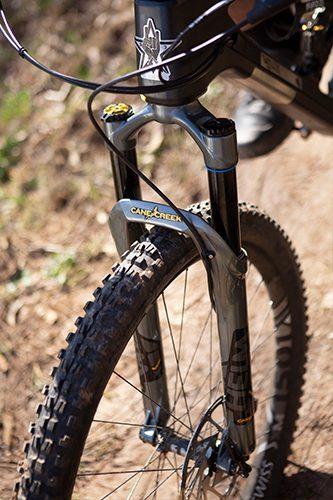 Cane Creek Helm suspension fork on Guerrilla Gravity Smash