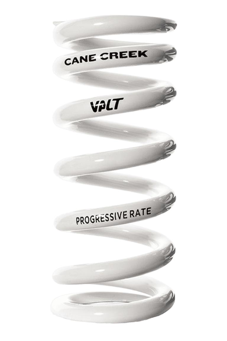 White progressive rate Cane Creek coil shock spring