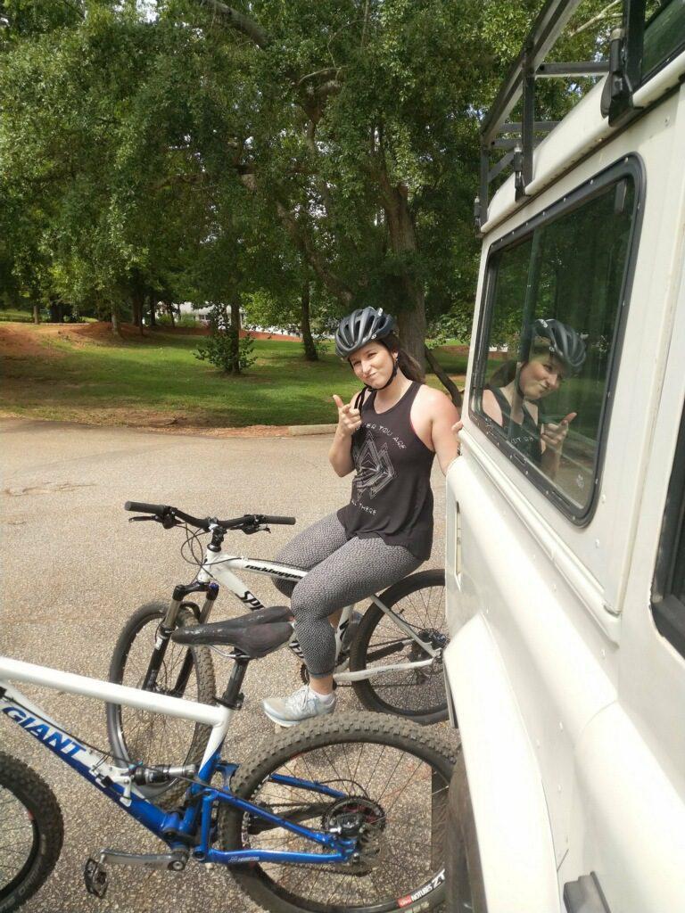 beginner Mountain Biker