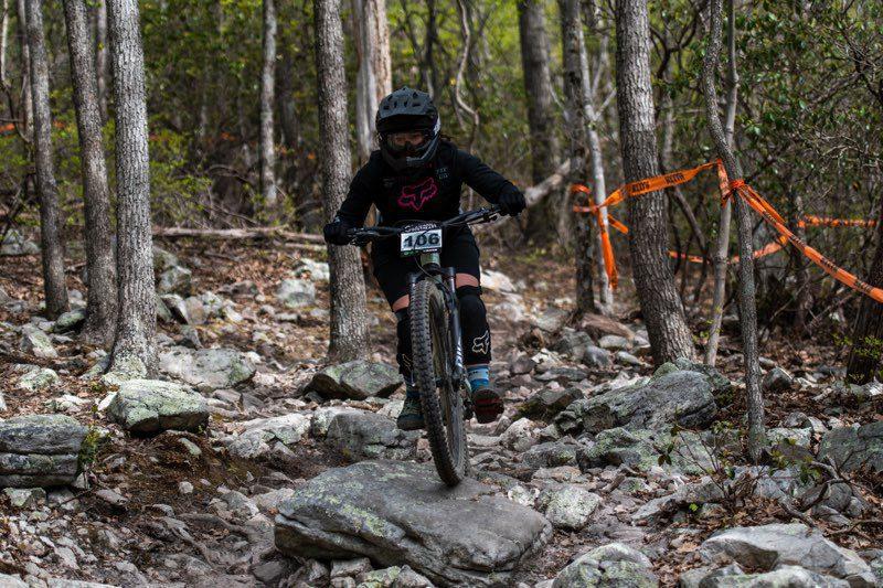 Mountain Bike Riding over Rocks